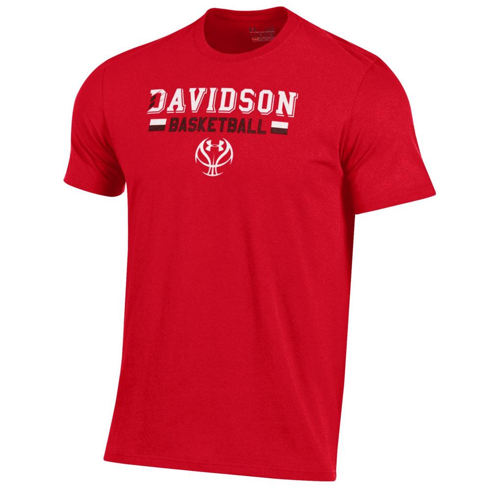 T Shirt Red Davidson Basketball