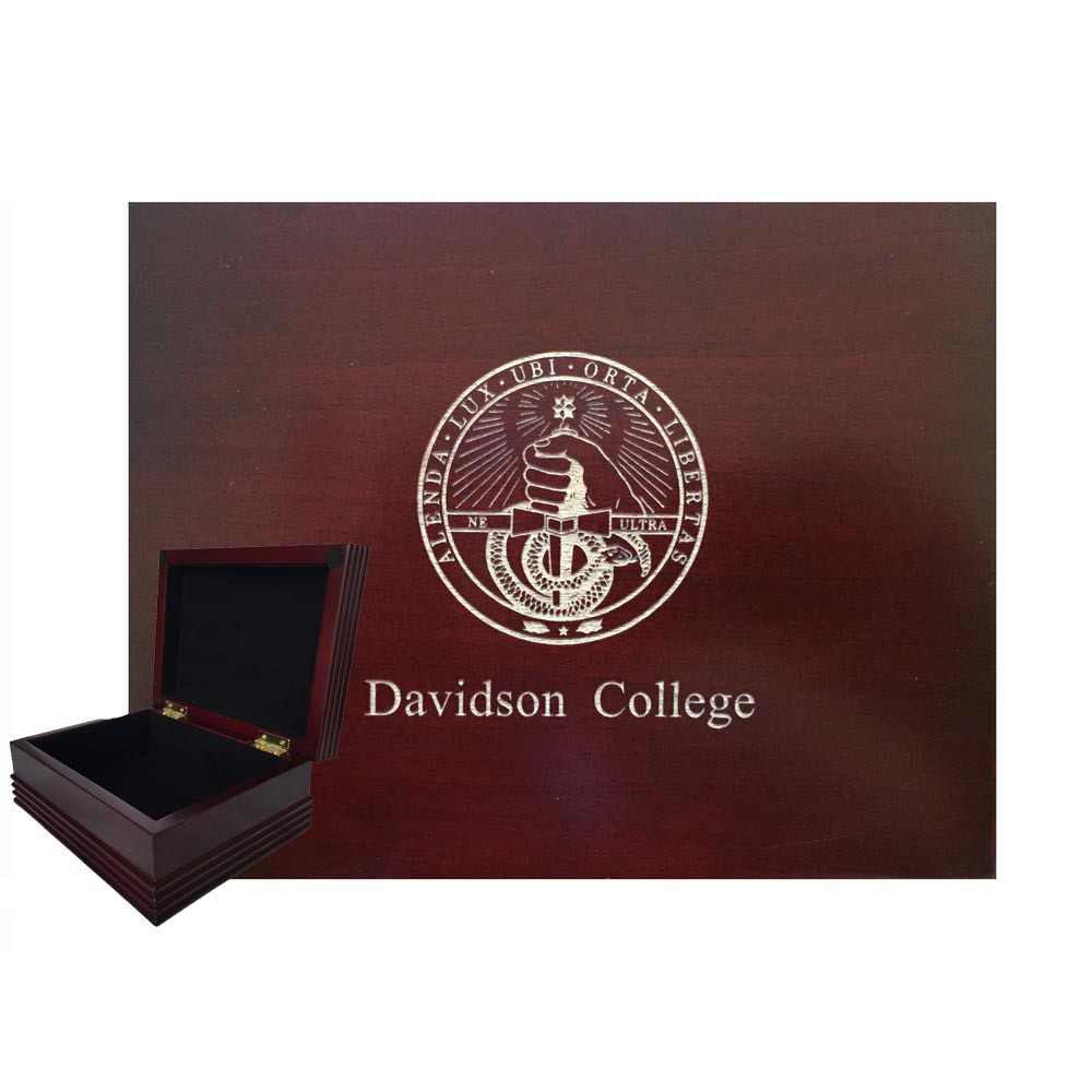 Image For Wood Box With College Seal