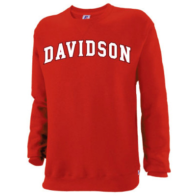 Image For Youth Fleece Crew - Red - Davidson Arched