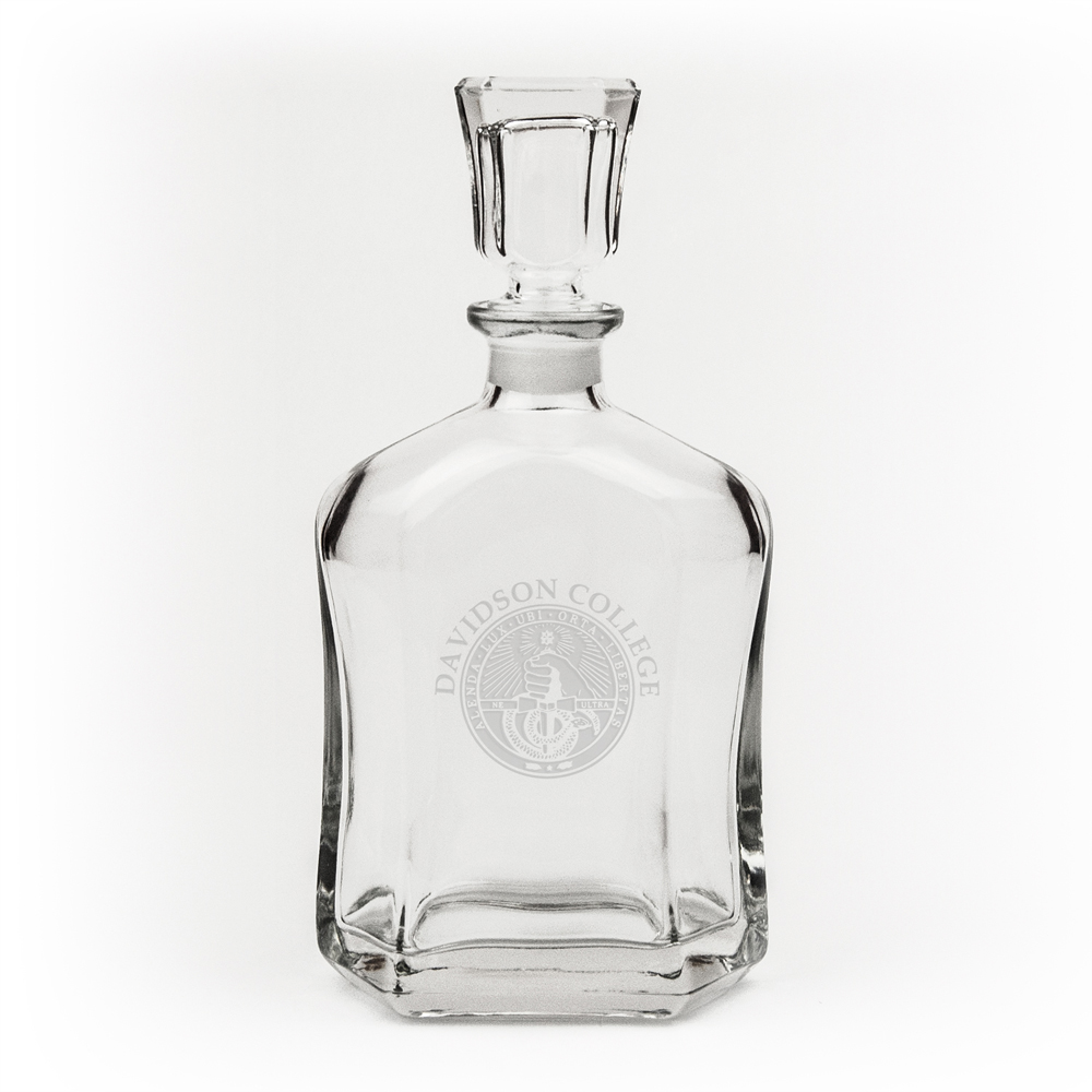 Image For Decanter Crystal - Davidson College Over Seal