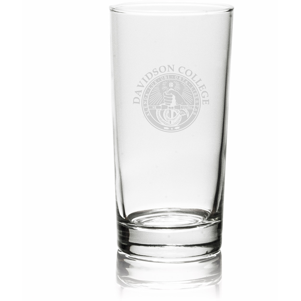 Image For Glass Highball-Davidson College Over College Seal