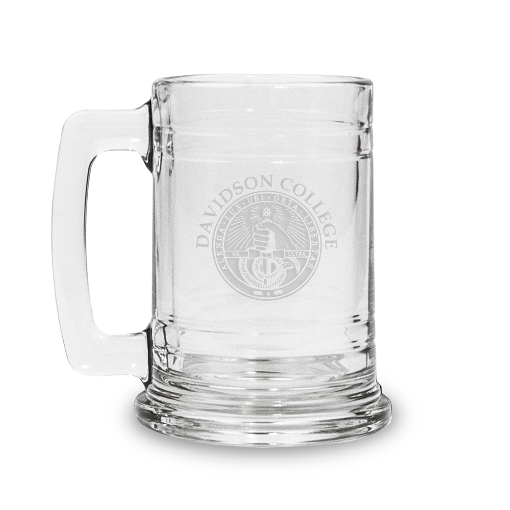 Image For Glass Tankard-Davidson College Over College Seal