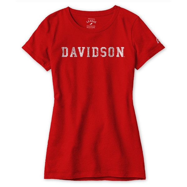 Image For Women's Freshy Red Tee-Davidson