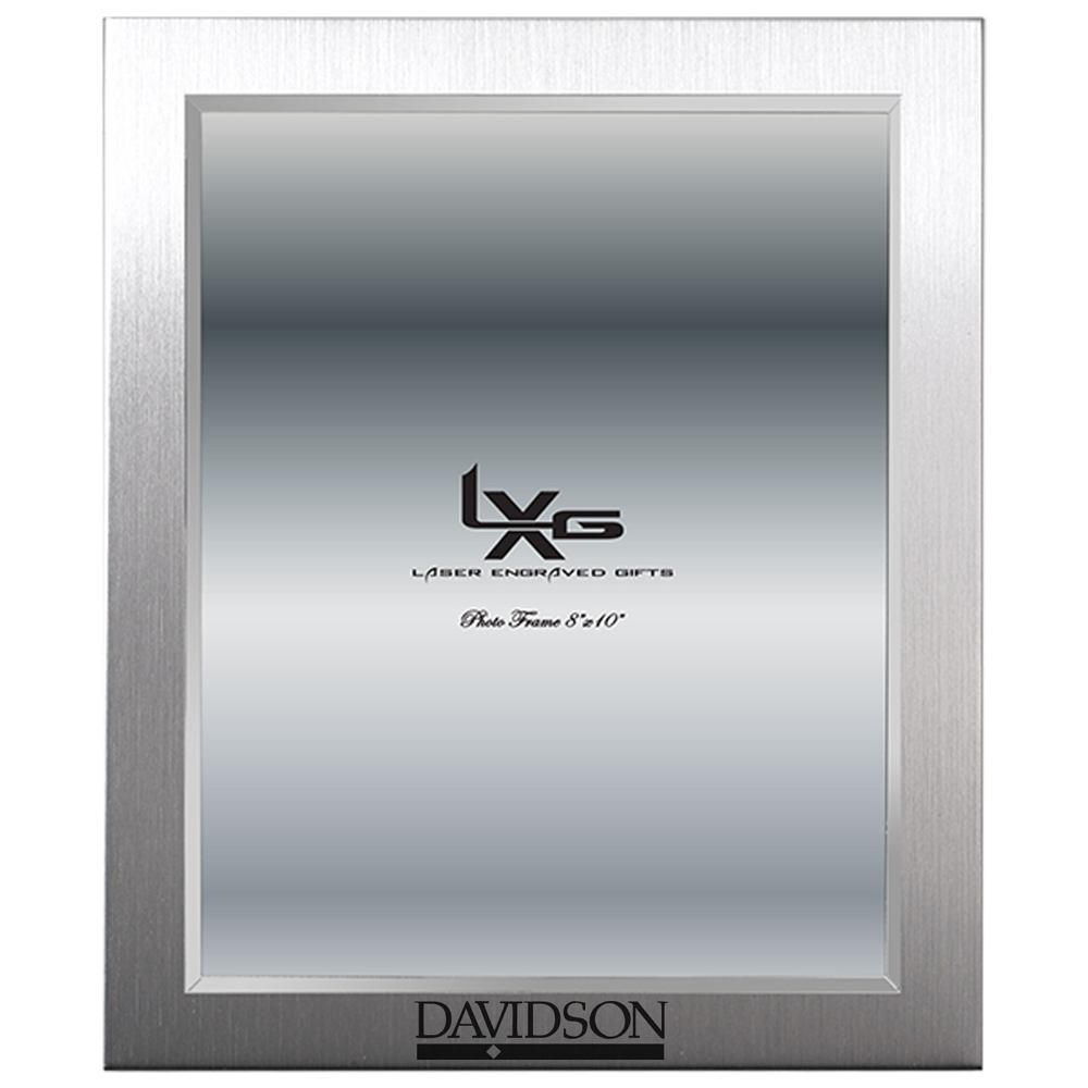 "Image For Frame 8""x 10"" Silver With Bar Diamond"