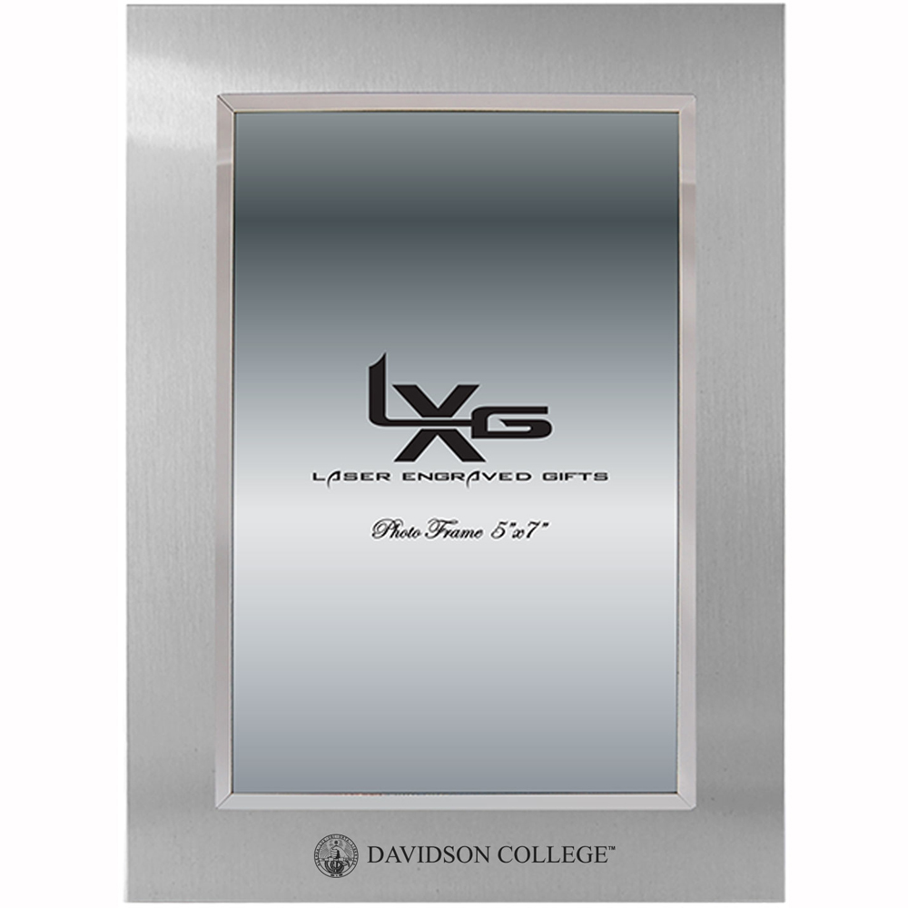 "Cover Image For Frame 5""x7"" Silver With College Seal"