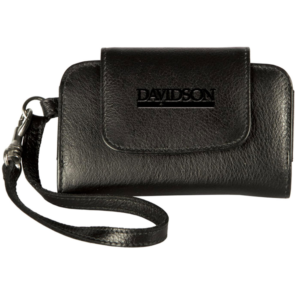 Image For Leather Black Cell Phone Wristlet