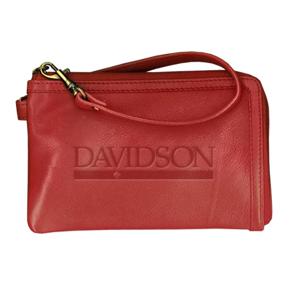 Image For Wristlet Leather Red