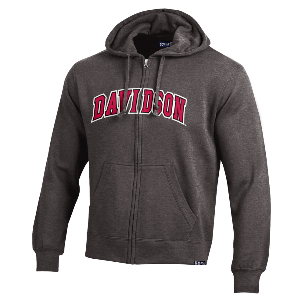 Image For JACKET FULL ZIP - Charcoal - DAVIDSON RED/WHITE APPLIQUE
