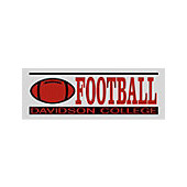 Image For Decal Sport Football 6""
