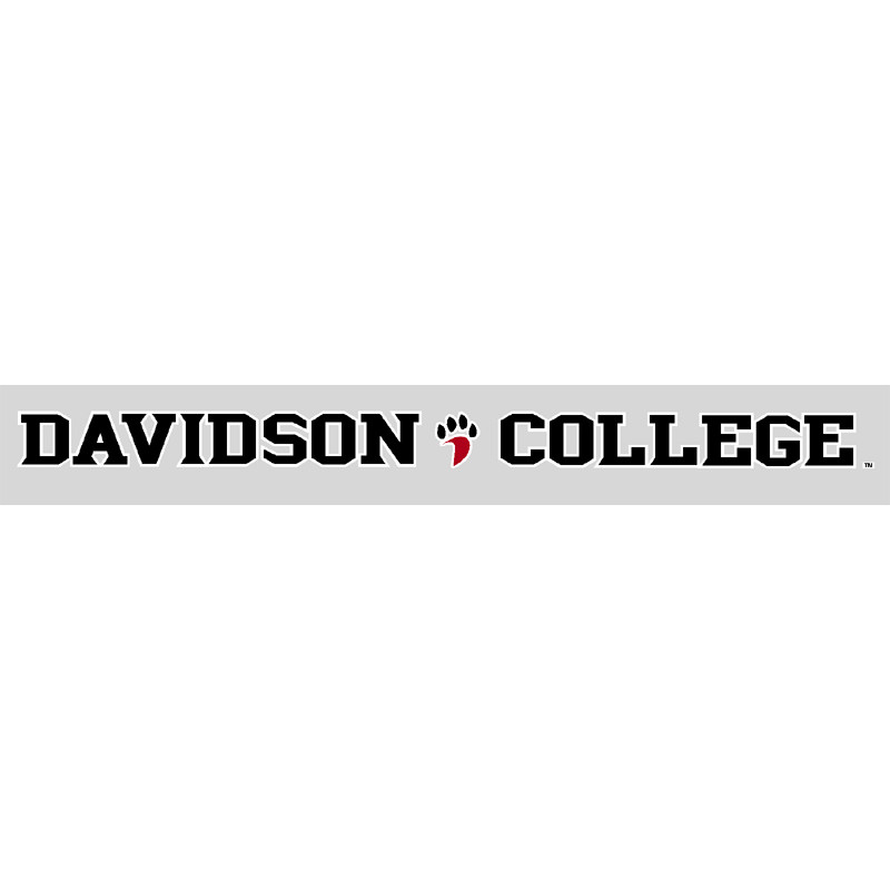 "Image For Decal 16"" Davidson College With Paw 06-03"