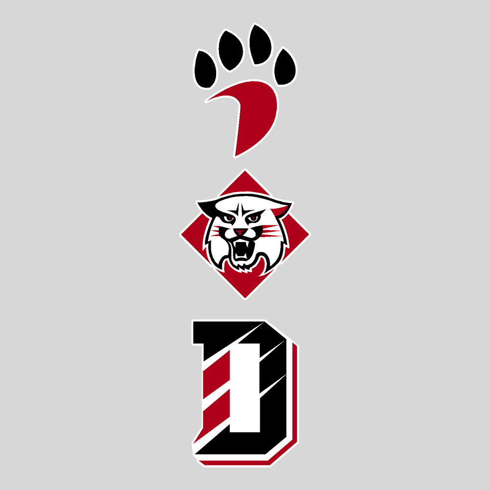 Image For Decal With Paw Wildcat & D