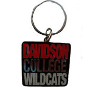 Image For Keytag Metal - Davidson College Wildcats Logo