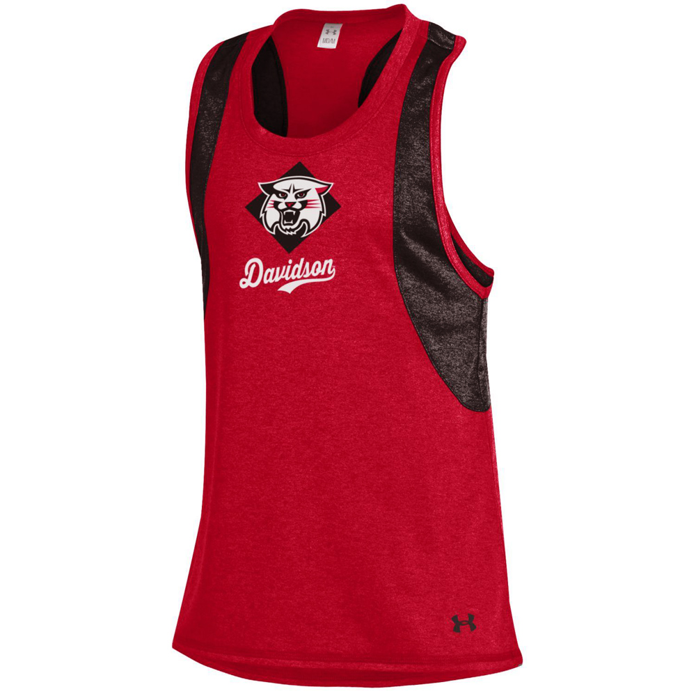 Image For Youth Girls Quick Pass Red Tank With Wildcat