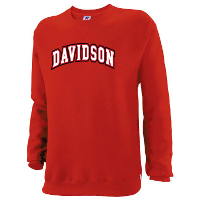 Image For Sweatshirt Crew Red - Davidson Arched