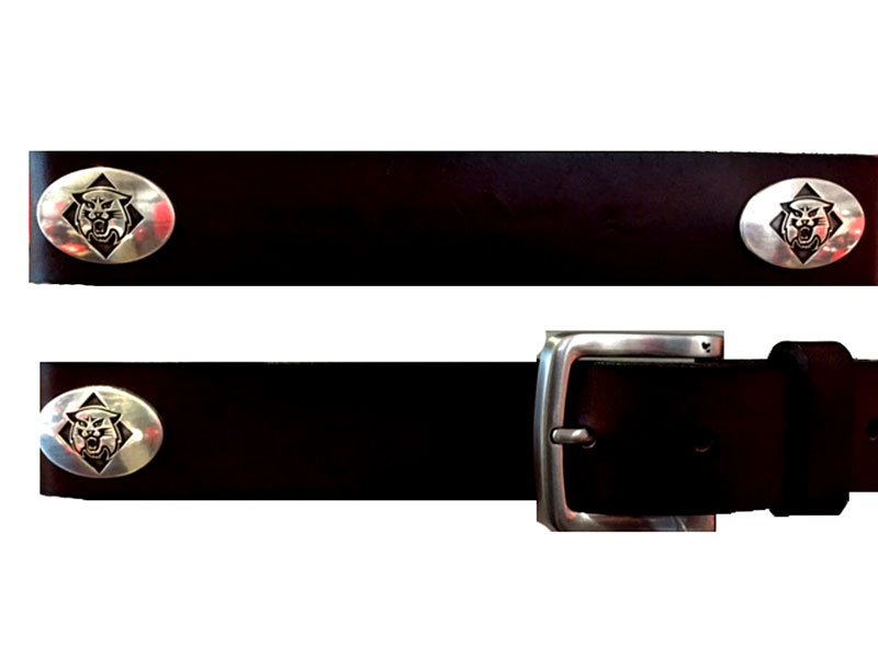 Image For Belt Leather - Brown - With Conchos