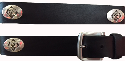 Image For Belt Leather - Black - With Conchos