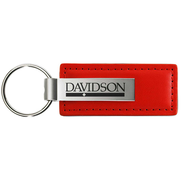 Image For Keytag Leather - Red - Bar Diamond Logo