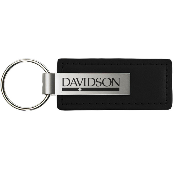 Image For Keytag Leather - Black - Bar Diamond Logo