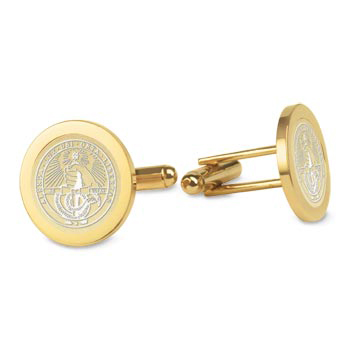 Image For Cufflinks Gold With College Seal