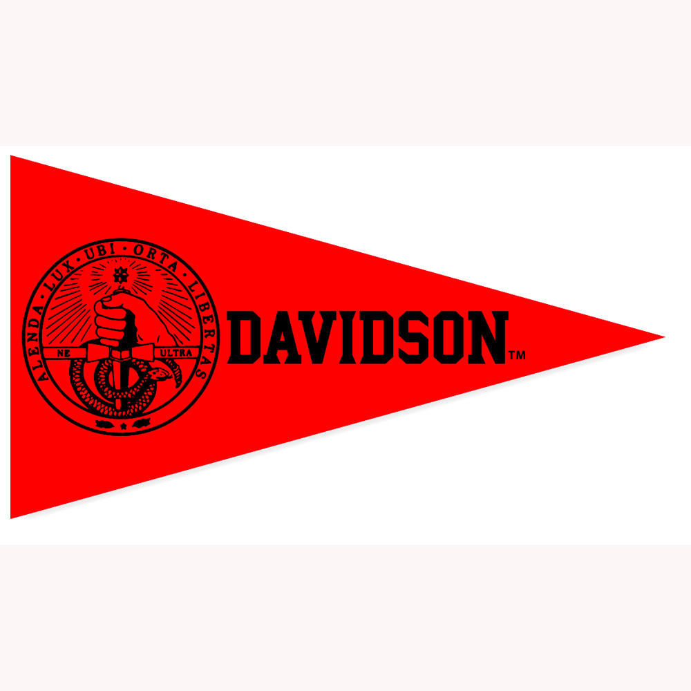 Image For Mini Pennant Magnet - Red - College Seal