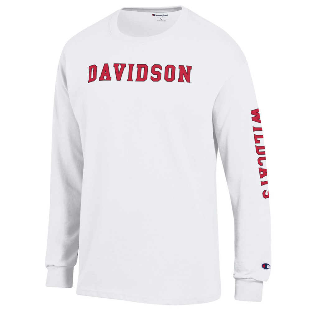 Image For Long Sleeve Tee White-Davidson Straight