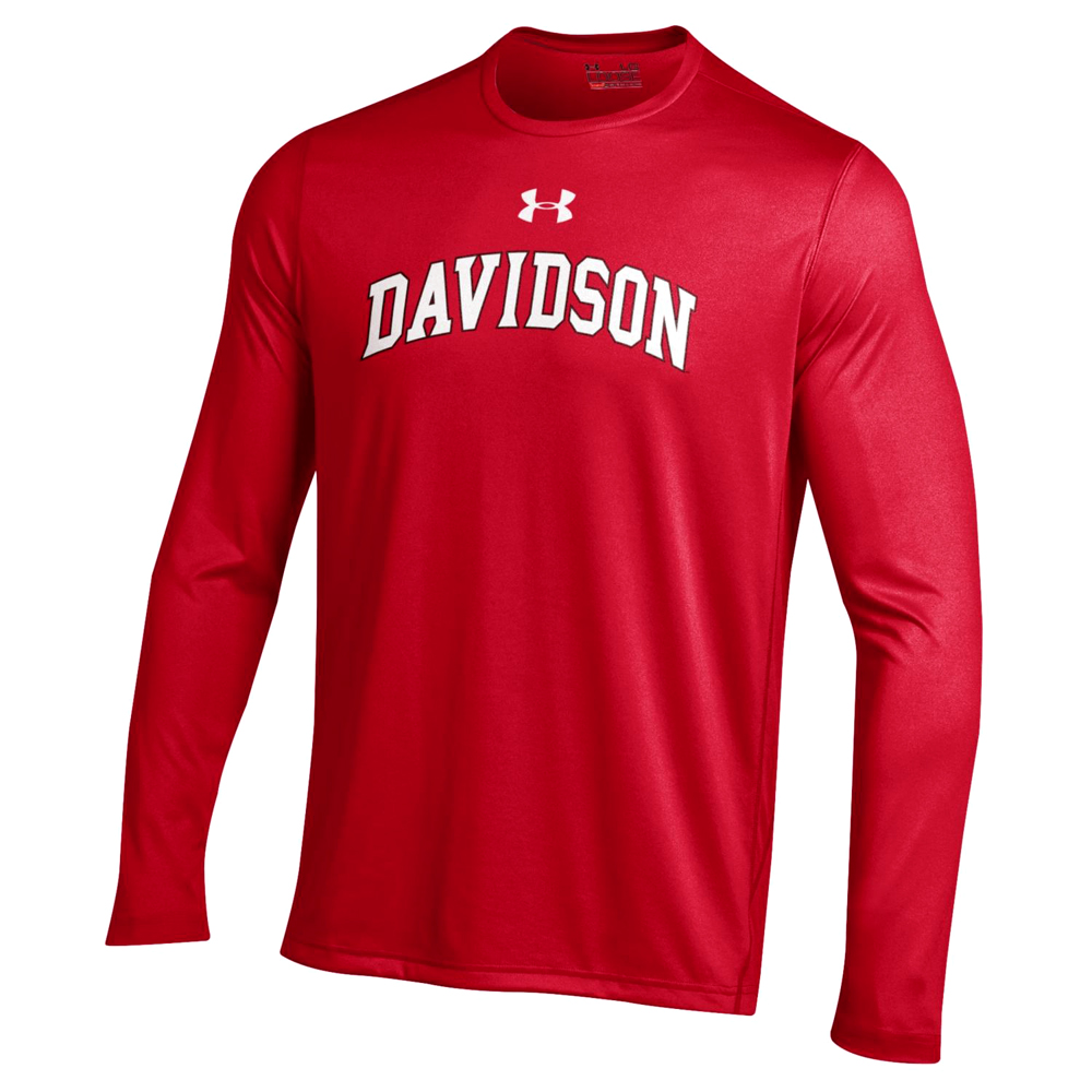 Image For Long Sleeve T Shirt Tech Red-Davidson Arched