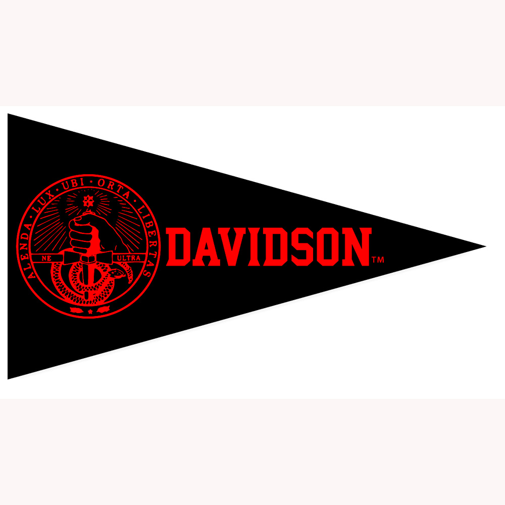 Image For Mini Pennant Magnet - Black - College Seal