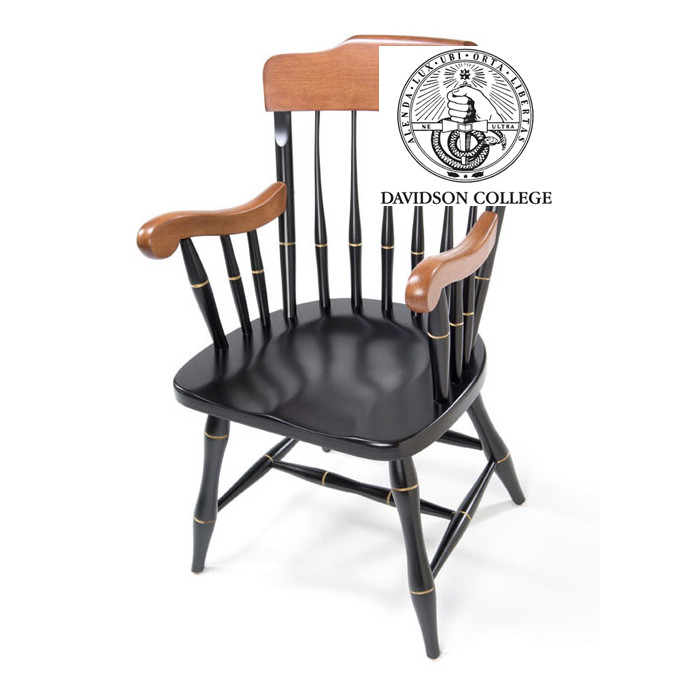Image For Captains Chair With Cherry Arms & Crown