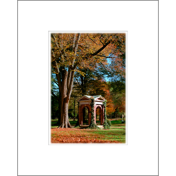 "Image For 5""x7"" Davidson Old Well In Autumn Print With Mat"