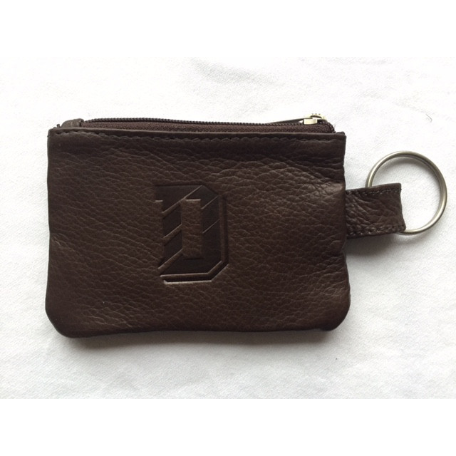 Image For ID Holder With Ring Leather Brown