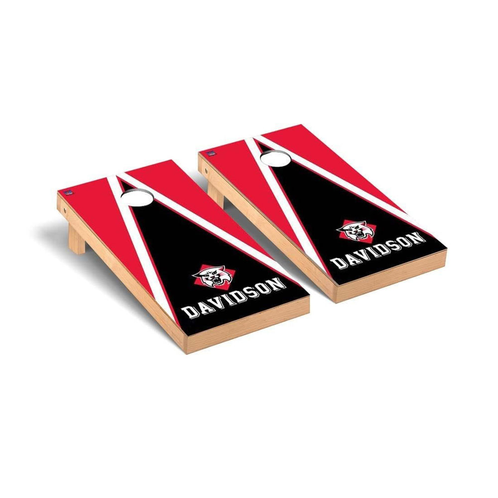 Image For Cornhole Board Red With Cat Over Davidson