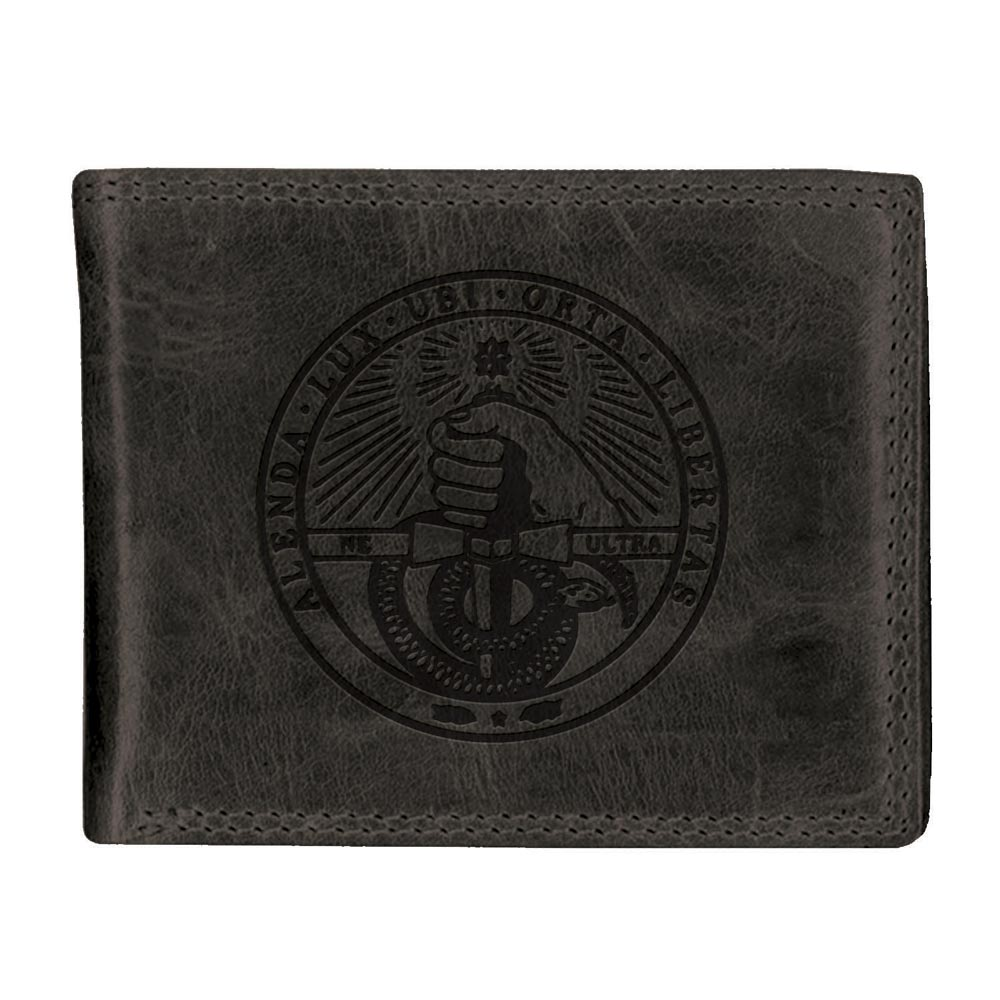Image For Westbridge Wallet Black Bi Fold With College Seal