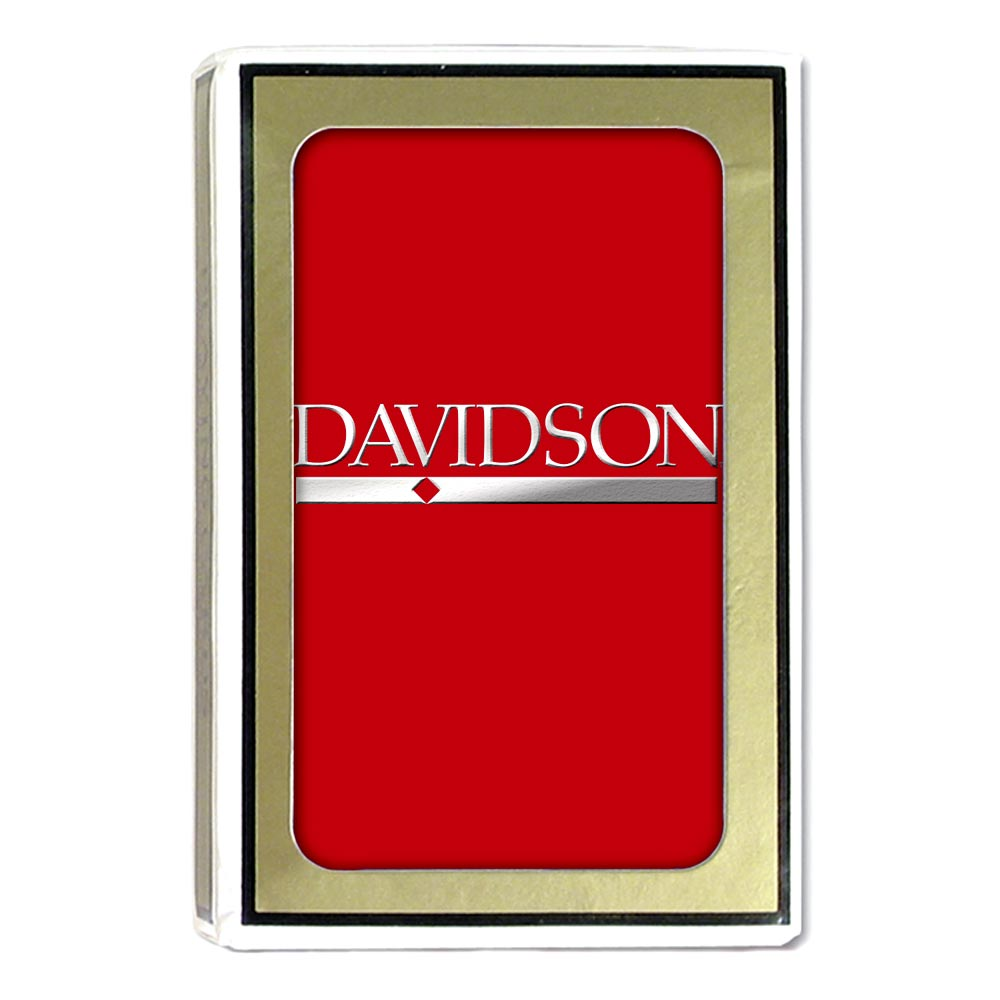 Image For Davidson Playing Cards Red