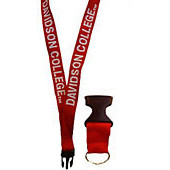 "Image For Lanyard Red 3/4"" Woven"