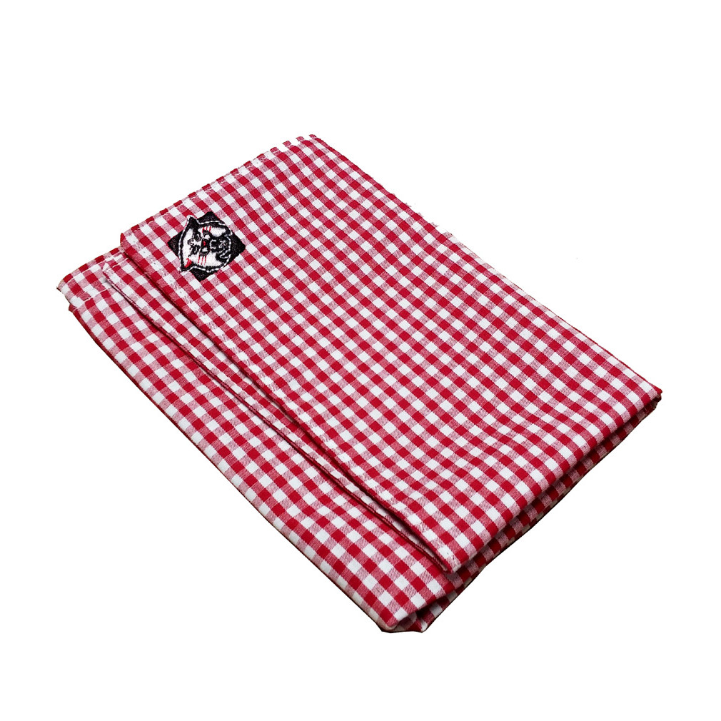 Image For Red & White Check Pocket Square