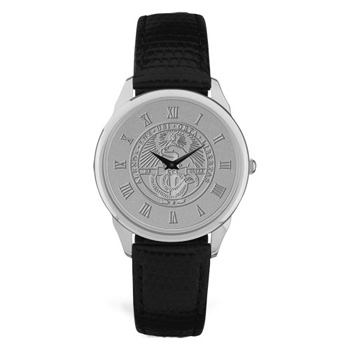 Image For Watch Men's With Black Band & College Seal