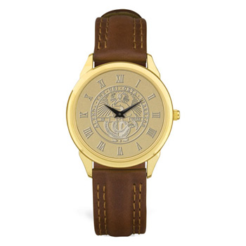 Cover Image For Watch Men's With Brown Band & College Seal