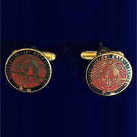 Image For Cufflinks 24K Gold With Coloisonné Enamel