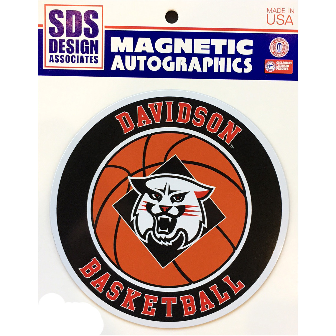 Image For Medium Basketball Car Magnet - Wildcat Logo