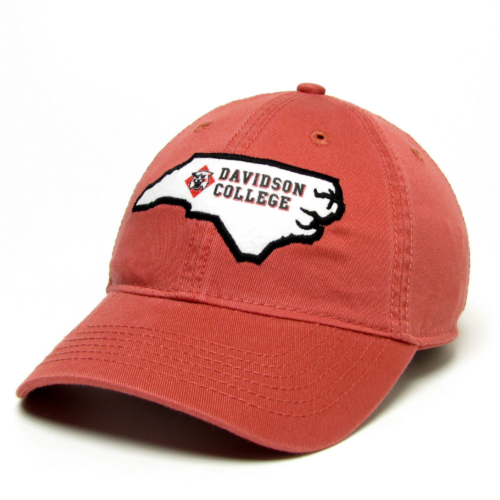 Image For Hat Red With State Of NC, Wildcat & Davidson College