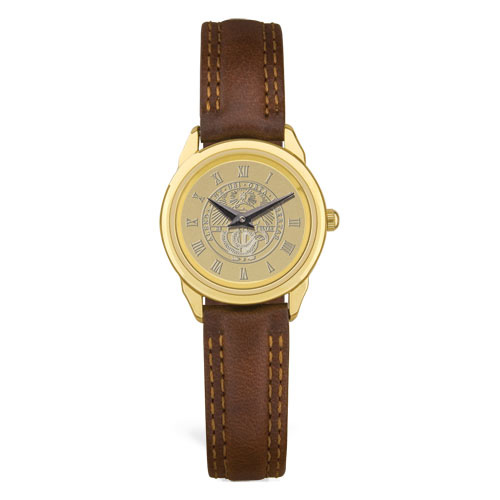 Image For Women's Watch With Brown Band & College Seal