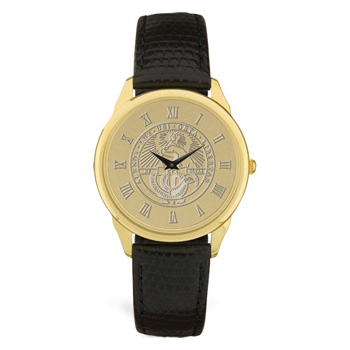 Cover Image For Watch Men's Black Strap & College Seal