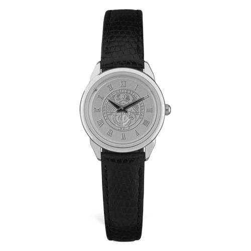 Image For Women's Watch With Black Band & College Seal
