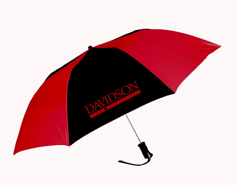 Image For Umbrella Small Red & Black With Bar Diamond