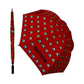 Image For UMBRELLA LARGE - RED - REPEATING WILDCATS