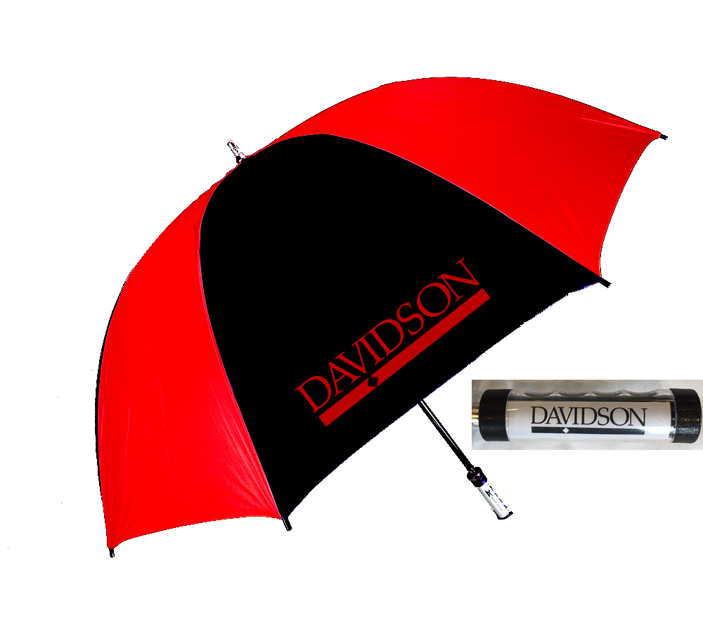 Image For Umbrella Large Black & Red With Bar Diamond