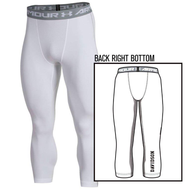 Image For Leggings - White - Davidson Logo