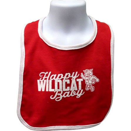 Image For Bib -Red- Happy Wildcat Baby