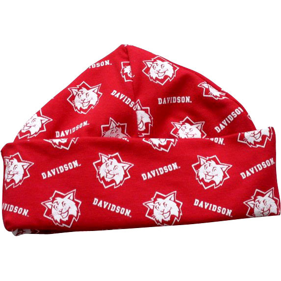 Image For Infant Hat Red-Davidson & Wildcats Repeating
