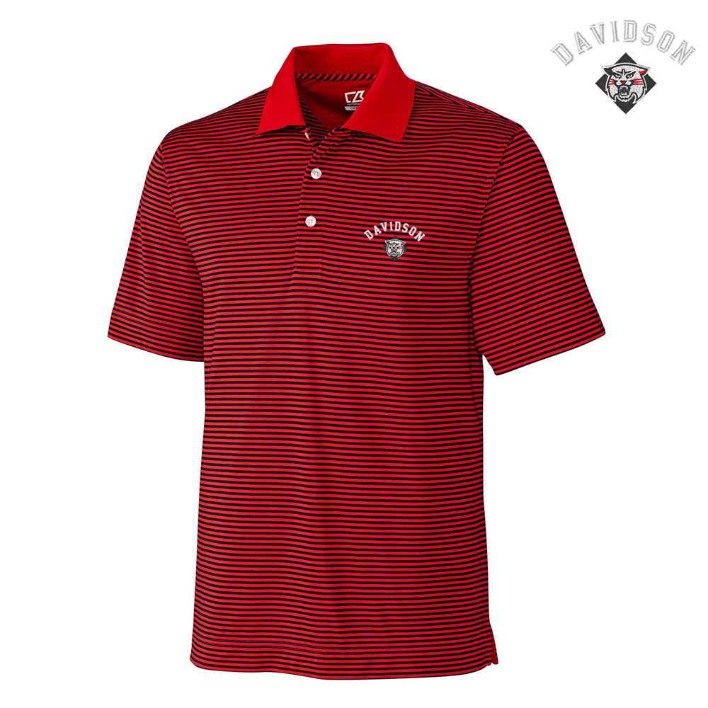 Image For Polo Trevor - Red & Black Stripe - Davidson Over Wildcat